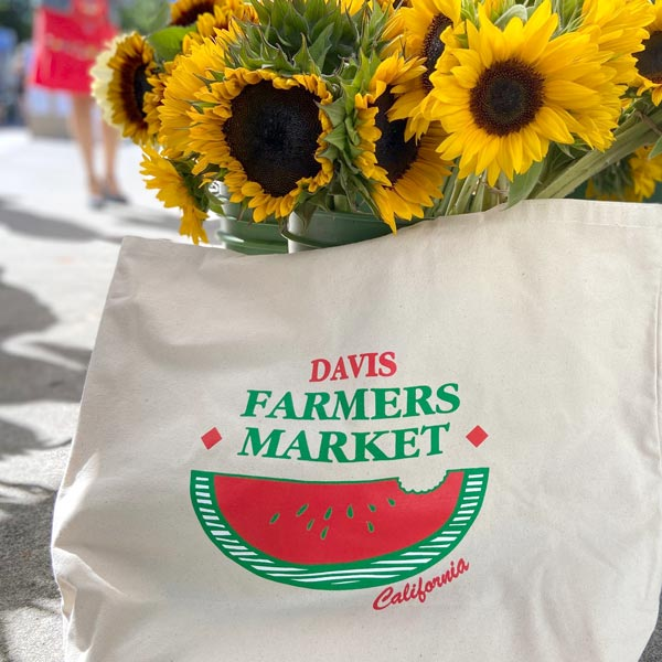 Davis Farmers Market Large Tote Natural